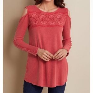 Soft Surroundings thermal cold shoulder top XL
